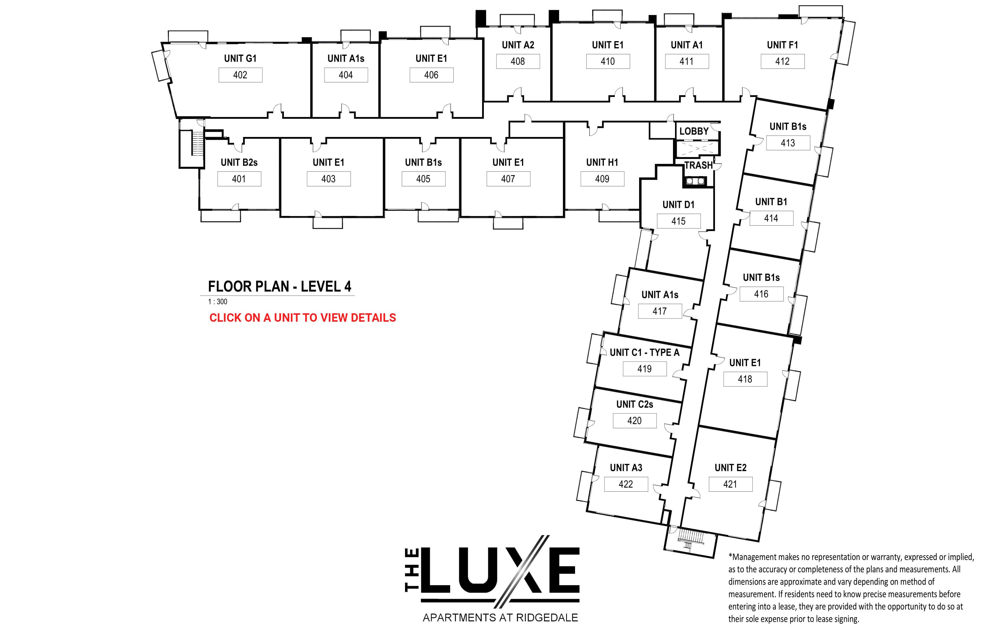 Floor Plan - Level 4